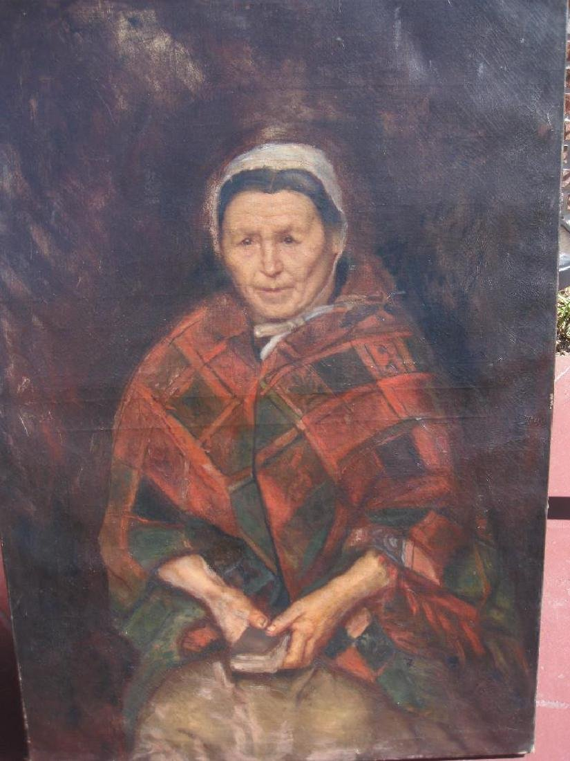 Old woman portrait, attributed to Wilhelm Leibl, 19th c