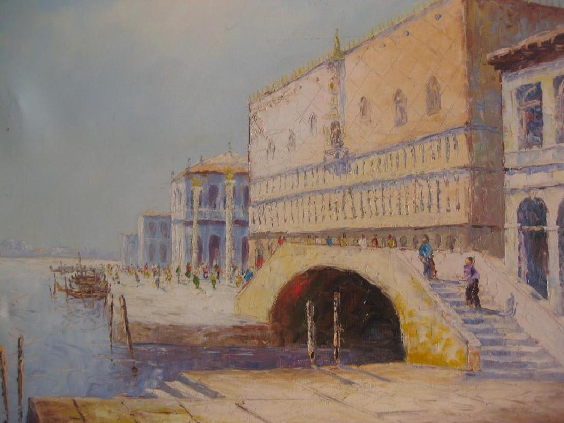Doge's Palace in Venice, by Ricco Azzuro, oil on