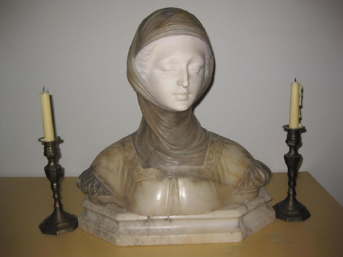 Marble Beatrice of Dante, by Brogi 1853-1919, Italy