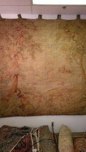 European Flemish Tapestry wool 17th century Belgian