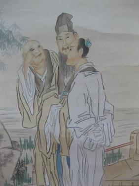 Chinese hanging scroll painting, attr. Qian Hui An,