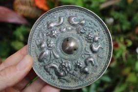 Sui/Early Tang (581-906 AD) Chinese bronze mirror with