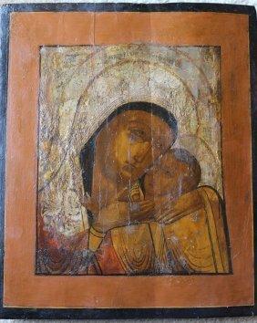 Vladimirskaya Mother of God & Jesus, Russian icon