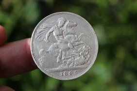 Great Britain crown Queen Victoria 1893, British silver