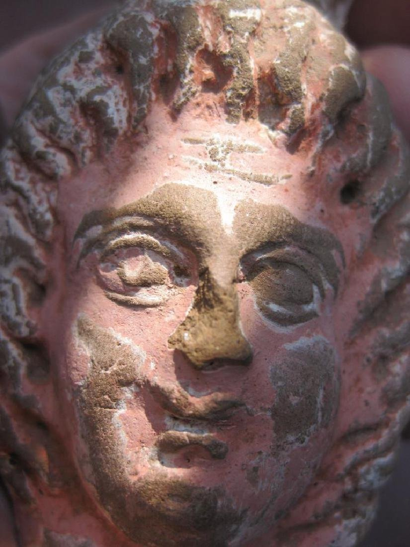 Phoenician Goddess Terracotta Head, 400-200BC