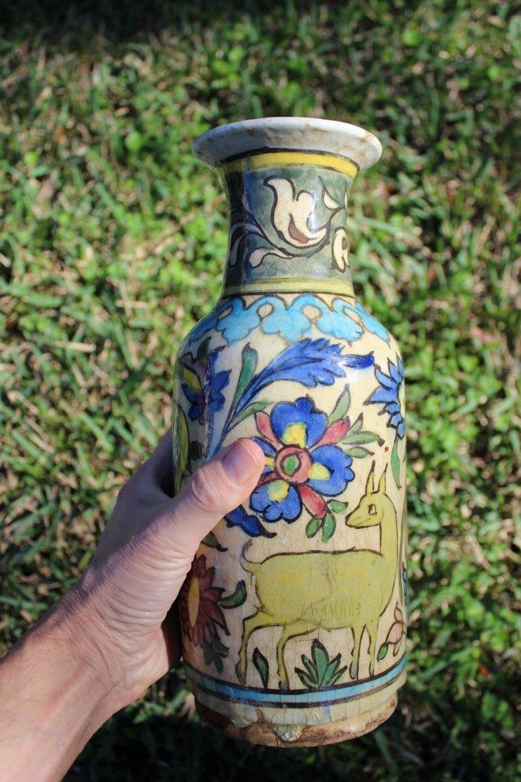 Antique Persian Islamic porcelain vase, 1200-1600 AD(?)
