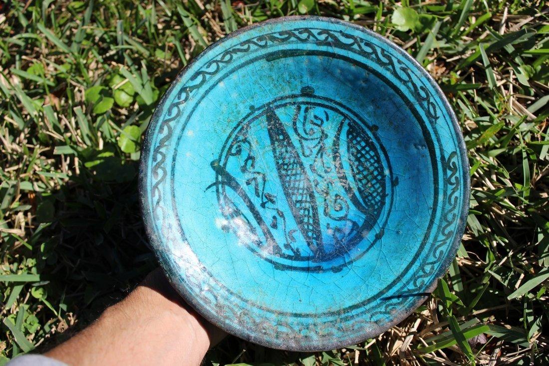 Islamic turquoise glazed bowl Kashan Persia, 1100 AD