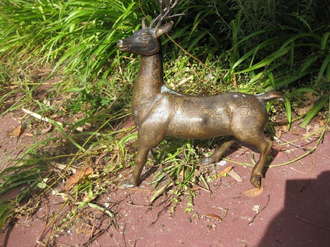 Chinese Bronze Deer, Qianlong Emperor, Qing dynasty