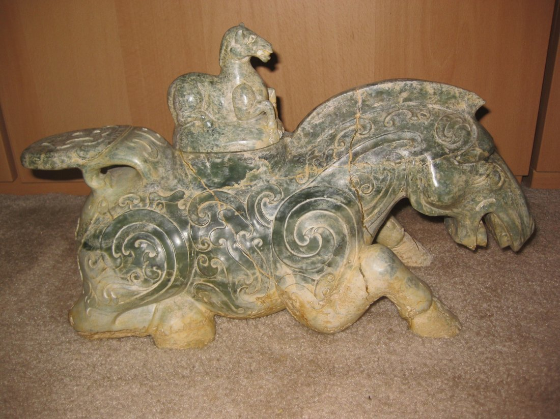 Magnificent Warring States, Jade Horse Container & Lid