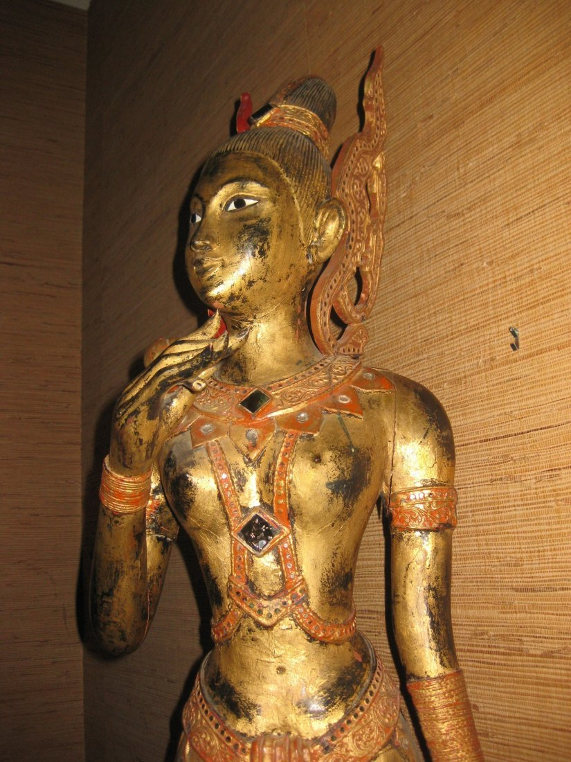 Masterpiece - Wooden Guan Yin, Indo-Chinese, 150 cm