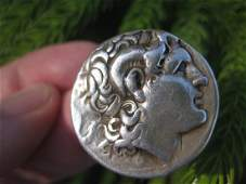 Greek silver coin Alexander the Great Tetradrachm 16.9g