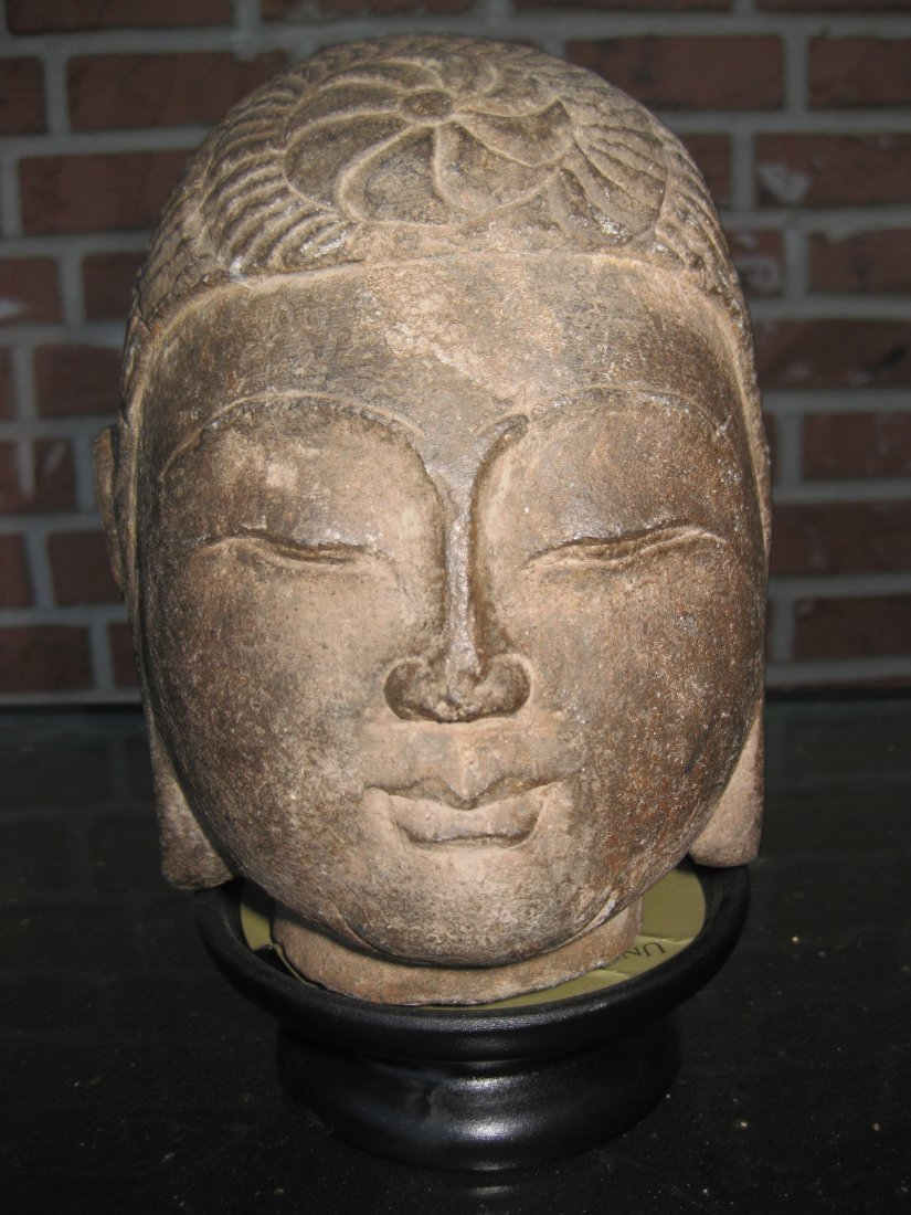 Chinese carved stone Buddha -wheel of life, N. Qi dynas