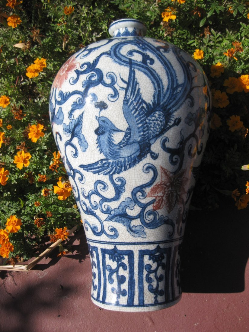 Chinese porcelain vase, Qing Dyn, by Tang Yin 1736