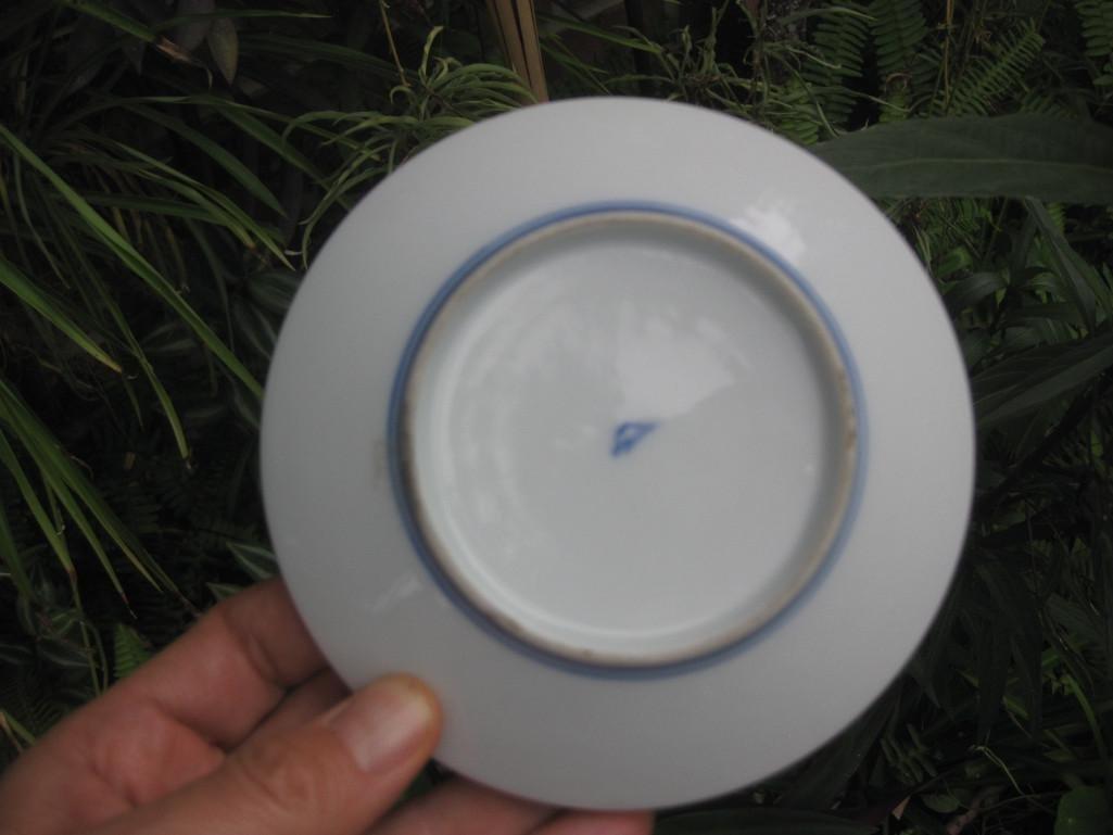 JAPANESE small plate with Mount. FUJI, Fukagawa mark - 9