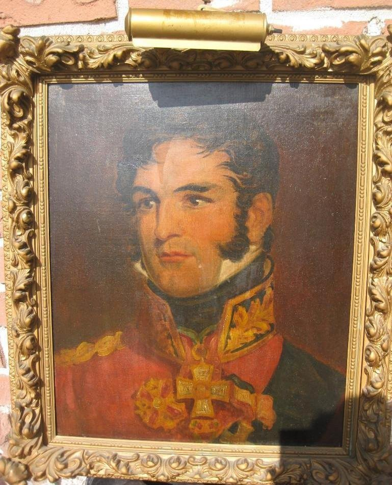 Portrait of King of Belgians Leopold I, circa 1815, by