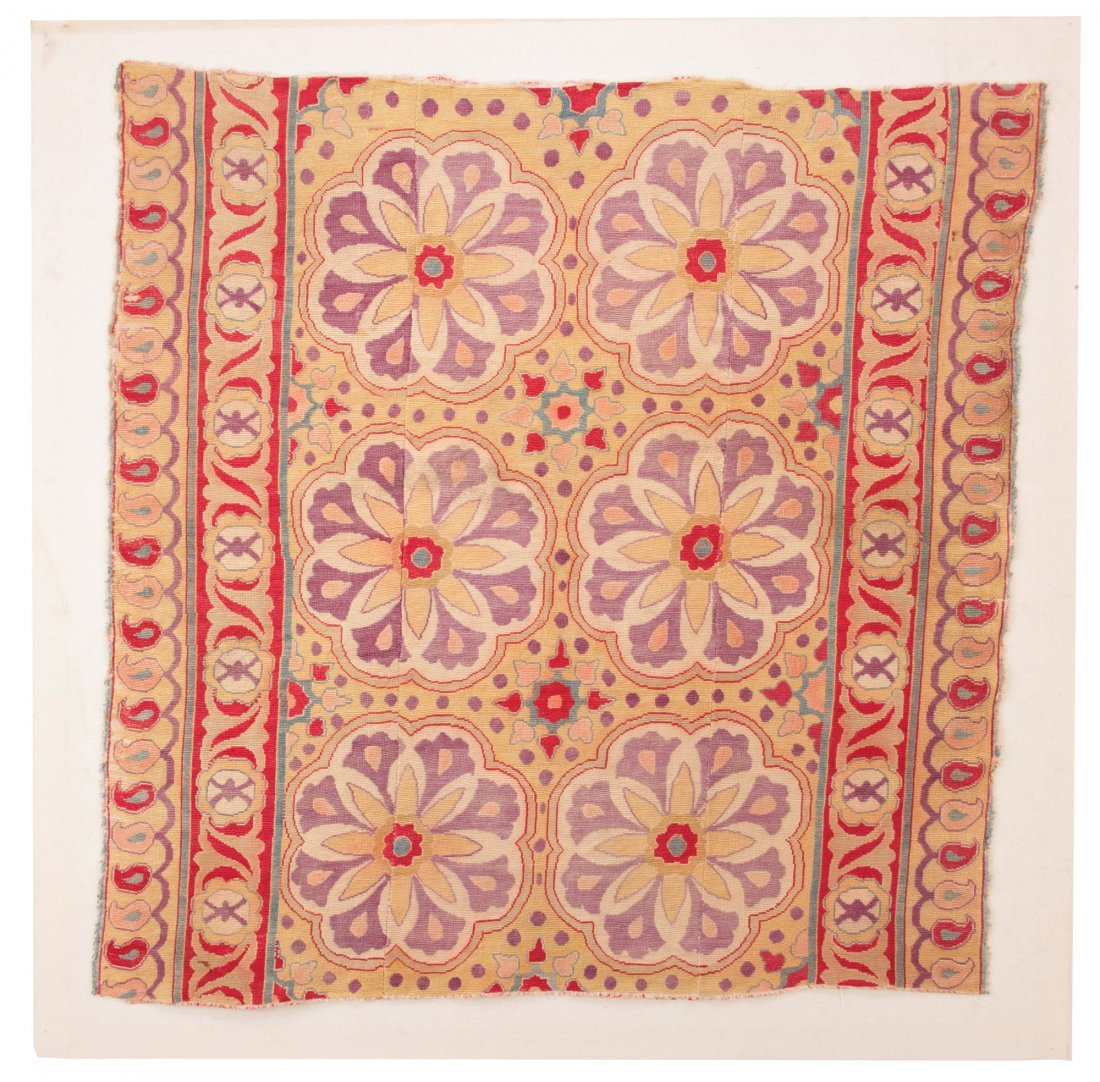 Silk Uzbek Embroidery Fragment