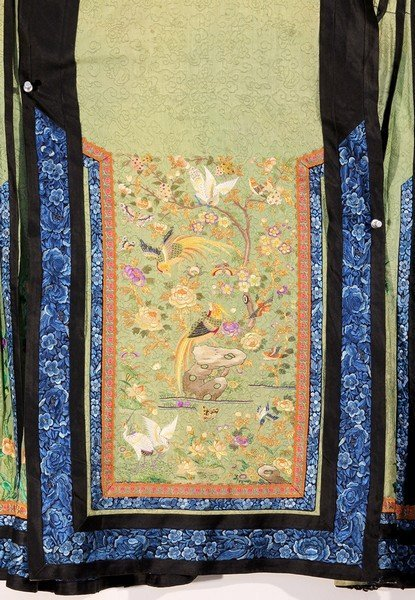 Antique Chinese Silk Skirt Embroidery - 3