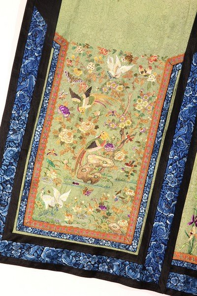 Antique Chinese Silk Skirt Embroidery - 4