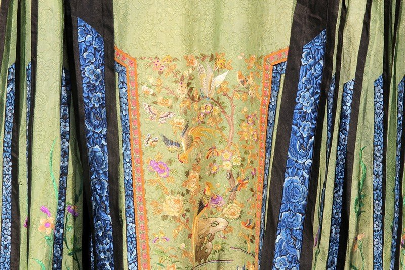 Antique Chinese Silk Skirt Embroidery - 5