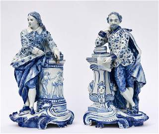 "Dutch Deflt Figures, ""The Wise Men"""