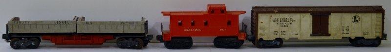 LIONEL TRAIN 335955 TWIN BIN COAL DUMP CAR, 6037 Caboos