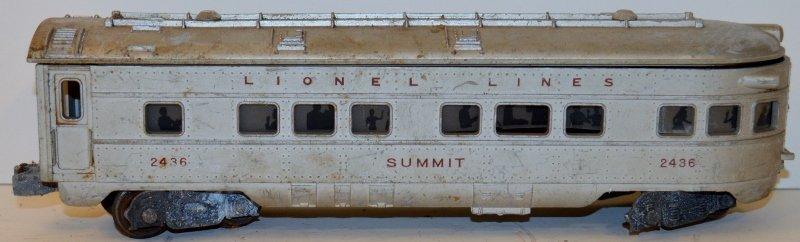 LIONEL POSTWAR 2436 LETTERED SUMMIT OBSERVATION CAR