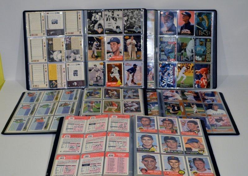 Lot of 5 Baseball Cards Books Full