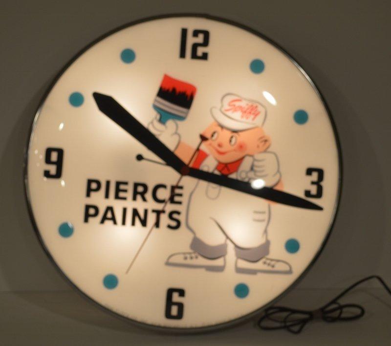 Pierce Paints Clock By Pam Clock Co. 1962
