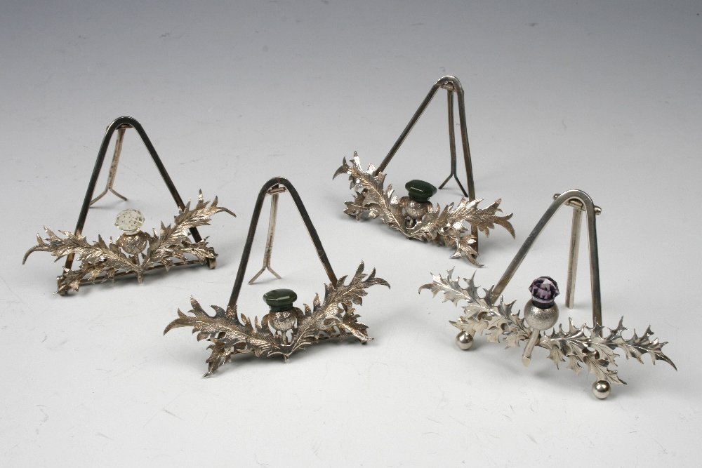 A PAIR OF LATE VICTORIAN MENU CARD HOLDERS modelled as