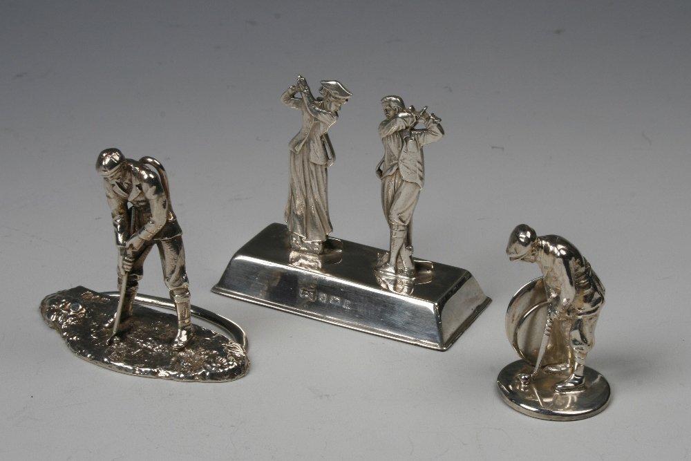 GOLF INTEREST: A VICTORIAN CAST MENU CARD HOLDER modell