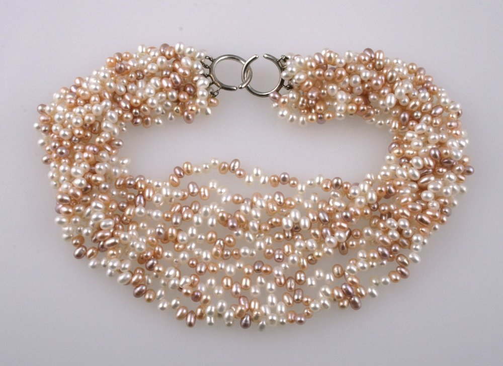 PALOMA PICASSO FOR TIFFANY AND CO: A MULTI-STRAND PINK,