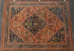 A MAHAL CARPET, WEST PERSIA with a rust red field with