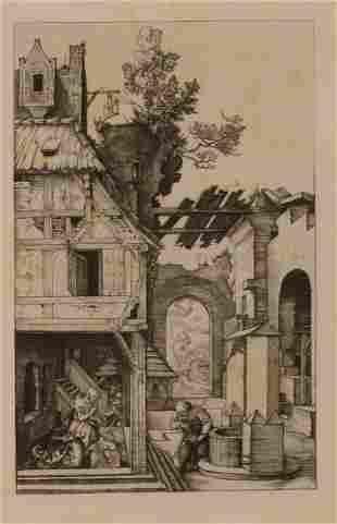 AFTER ALBRECHT DURER (1471-1528) A nativity scene, init