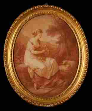 """AFTER ANGELICA KAUFFMAN (1741-1807) """"Abra"""" engraved by"""