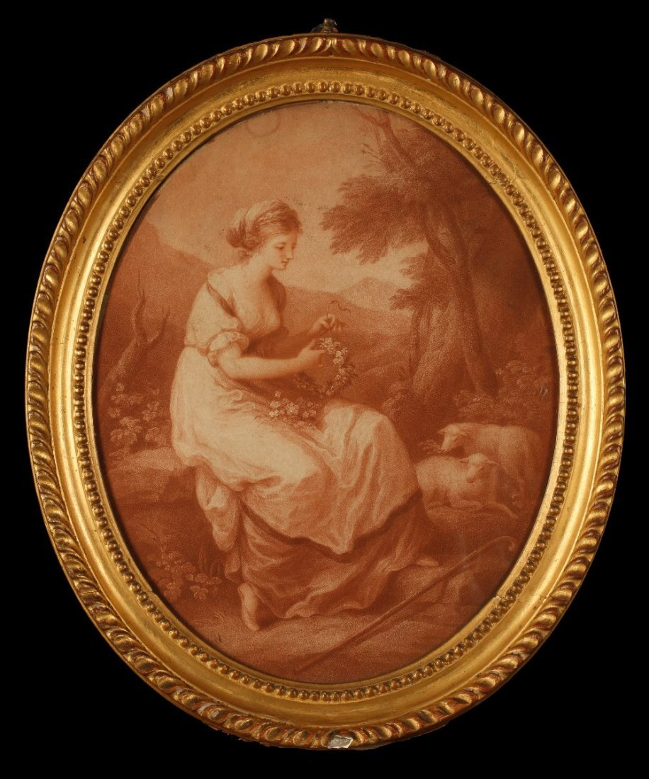 "AFTER ANGELICA KAUFFMAN (1741-1807)  ""Abra"" engraved by"