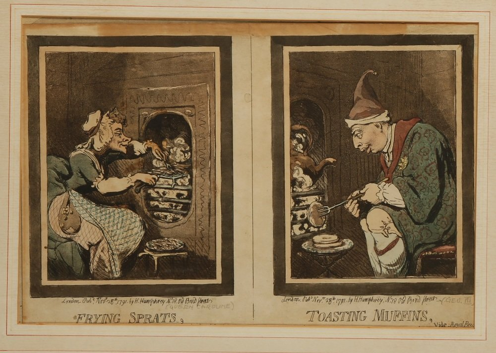 "AFTER JAMES GILLRAY (1757-1815) ""Frying Sprats,Toasting"