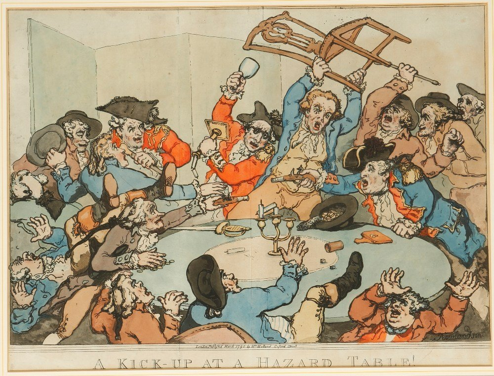 "AFTER THOMAS ROWLANDSON (1756-1827) ""A Kick-Up at a Haz"