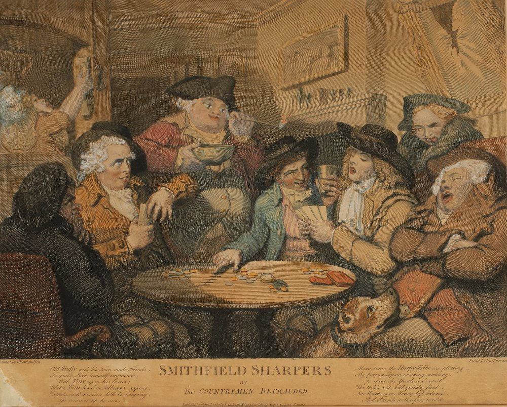 "AFTER THOMAS ROWLANDSON (1756-1827) ""Smithfield Sharper"