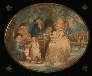 "AFTER GEORGE MORLAND (1763-1804) ""A tea garden at St. J"