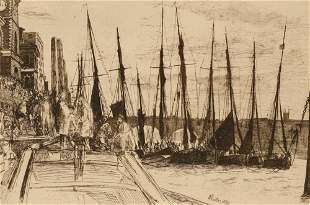 JAMES ABBOTT MACNEIL WHISTLER (1834-1903) Billingsgate