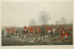 """AFTER HENRY CALVERT (1798-1869) """"The Cheshire Hunt"""" eng"""