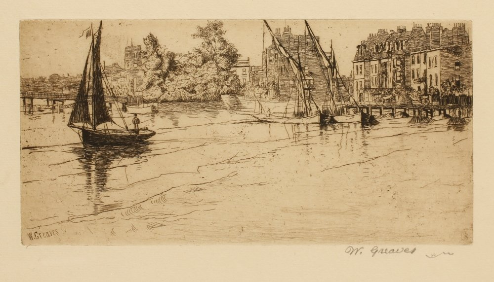 "WALTER GREAVES (1846-1930) ""The Chelsea"", printed signa"