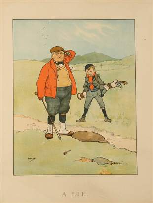 """AFTER JOHN HASSALL (1868-1948) """"A Lie"""", published 1901"""