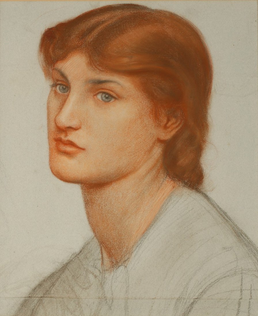 DANTE GABRIEL ROSSETTI (1828-1882), Portrait of Alexa W