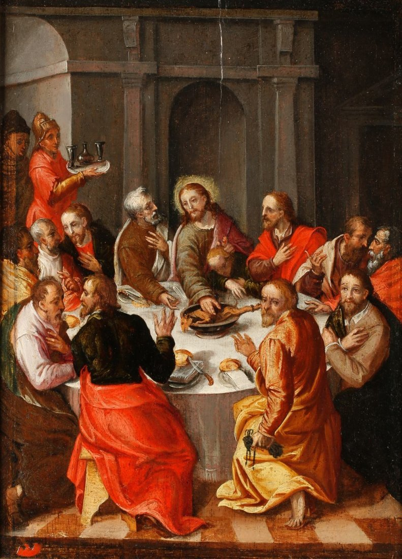 CIRCLE OF HANS VON AACHEN (1552-1615) The Last Supper,
