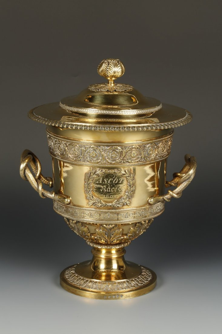 """THE ASCOT RACES CUP 1809"": A GEORGE III SILVER GILT"