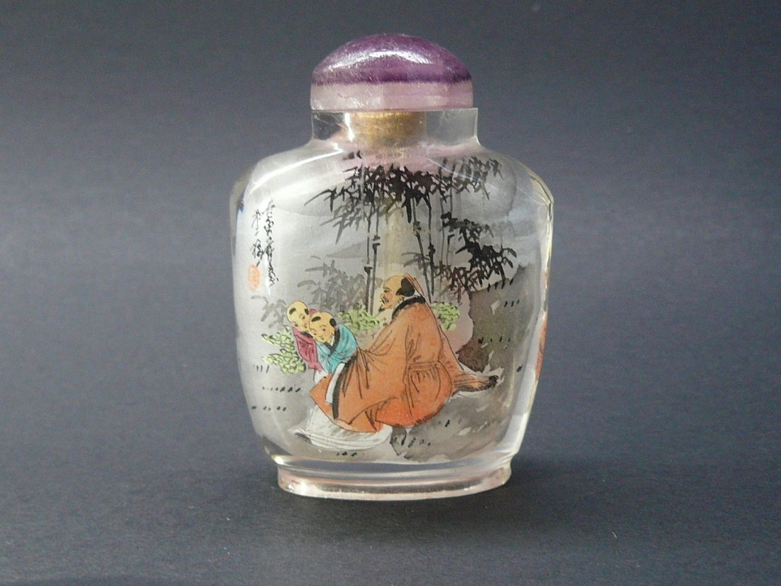 A Glass Inside Painted Snuff Bottle