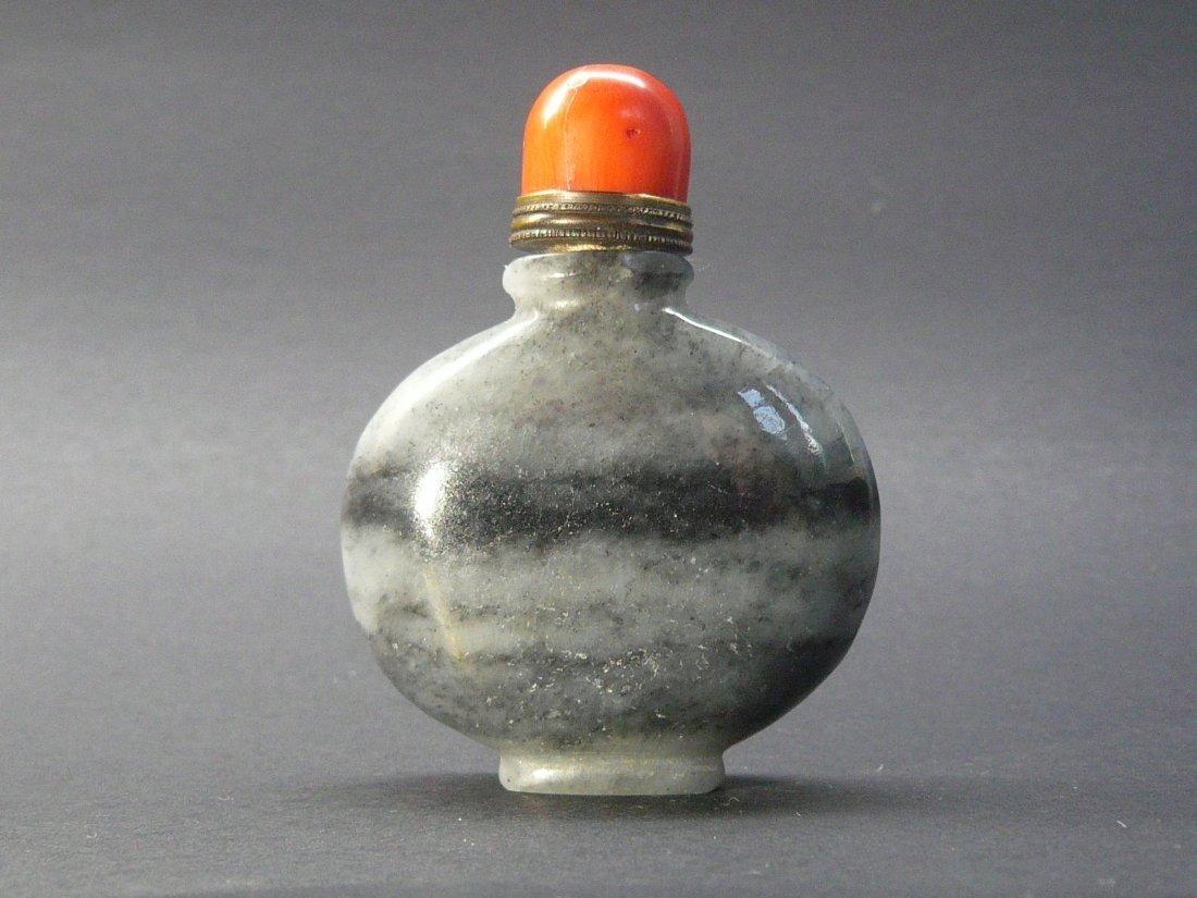 A Banded Hardstone Snuff Bottle