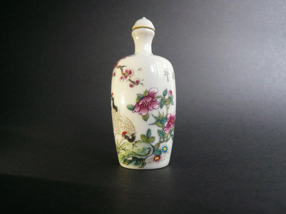 A Famille Rose Porcelain Snuff Bottle