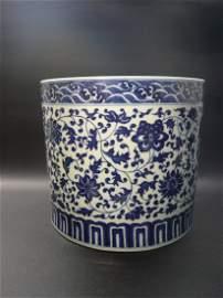 A Qianlong Period Blue and White Brushpot